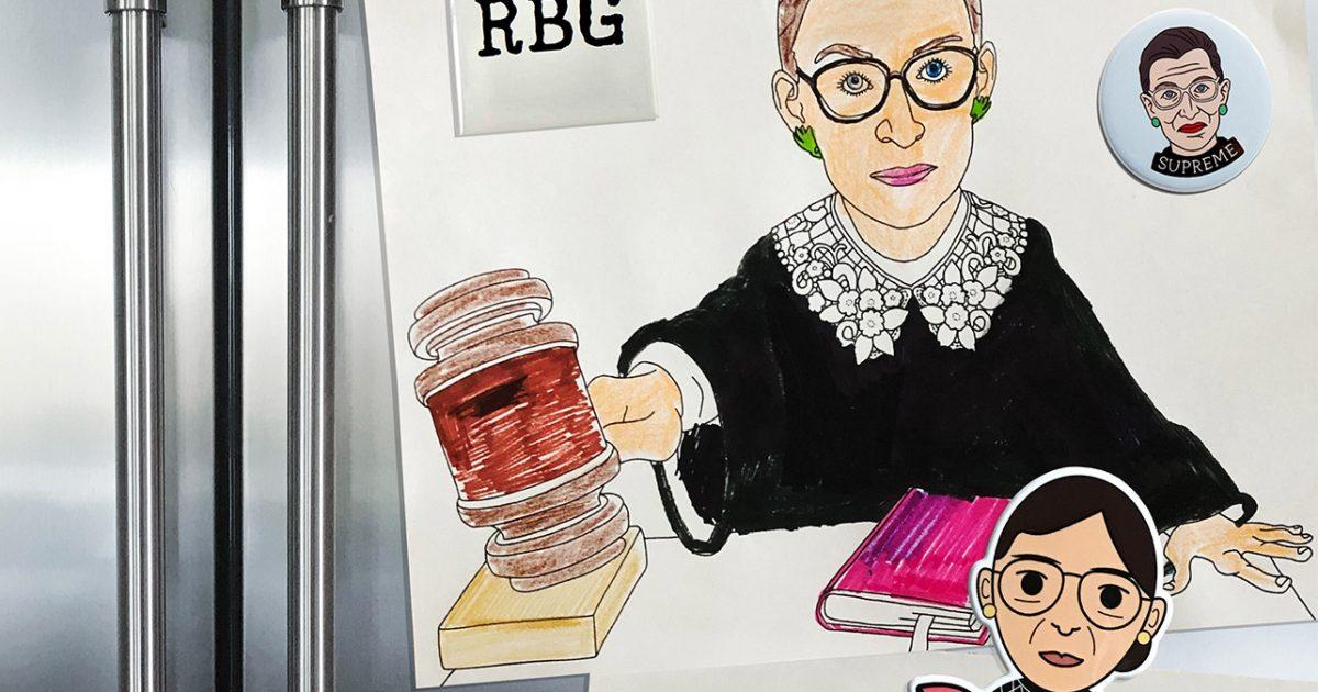 RUTH BADER GINSBURG POSTER NOTORIOUS RBG 22 x 34