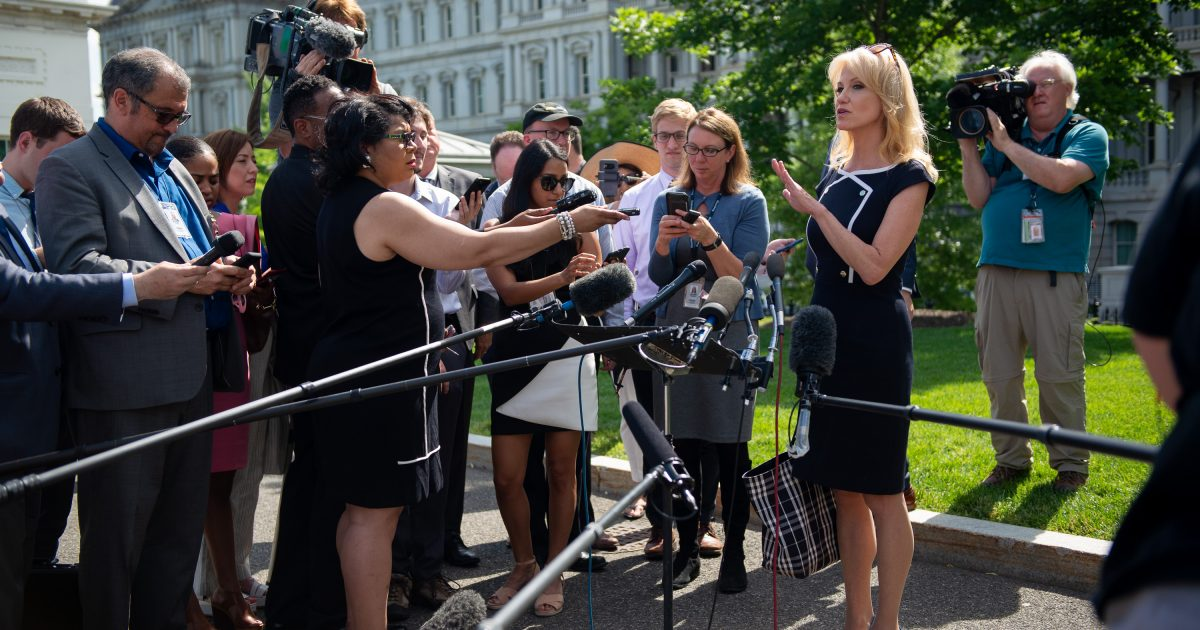photo image Do the Hatch Act's Restrictions on Kellyanne Conway's Commentary Violate Her First Amendment Rights?