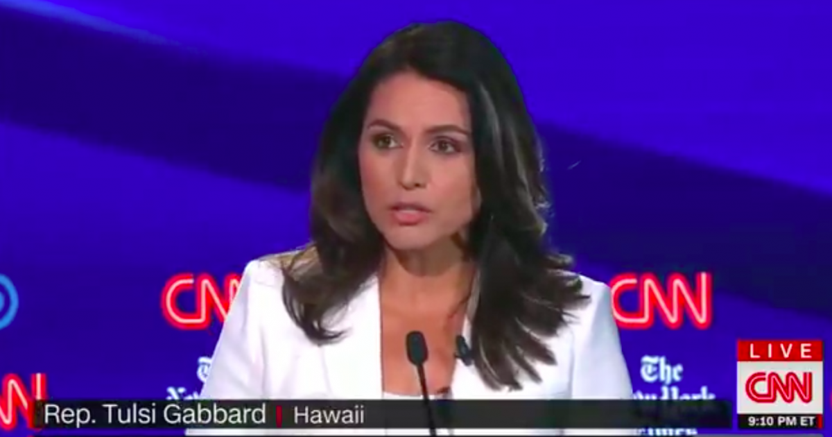 Tulsi Gabbard Called Out Mainstream Media, Both Parties, and Several Democratic Candidates for Supporting Disastrous Regime Change in the Middle East