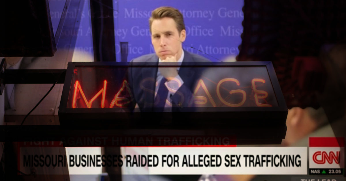 Sen. Josh Hawley Says He 'Took on an Asian Trafficking Ring' and 'Freed a Dozen Women in Sex Slavery.' That's Not True.