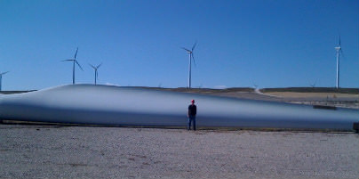 Bailey dwarfed by wind technology