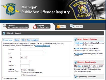 Mi.sex offender registry galleries 76