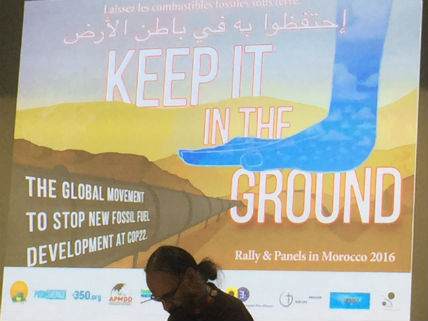 KeepItInTheGroundCOP22Bailey