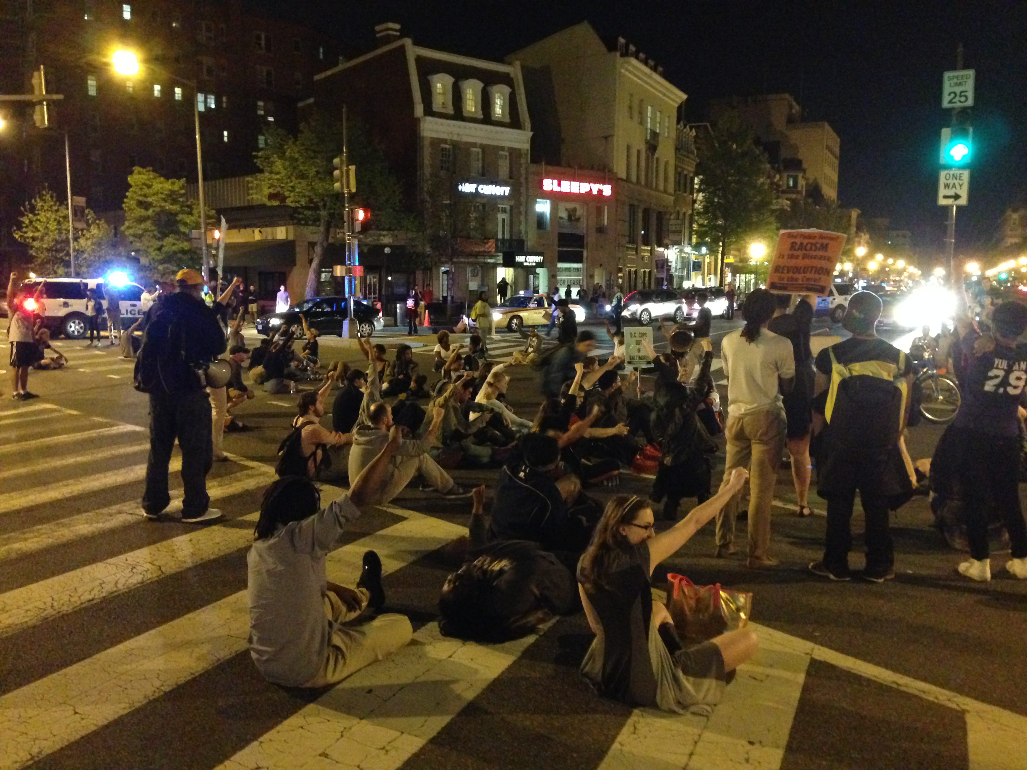 Protesters in Dupont Circle