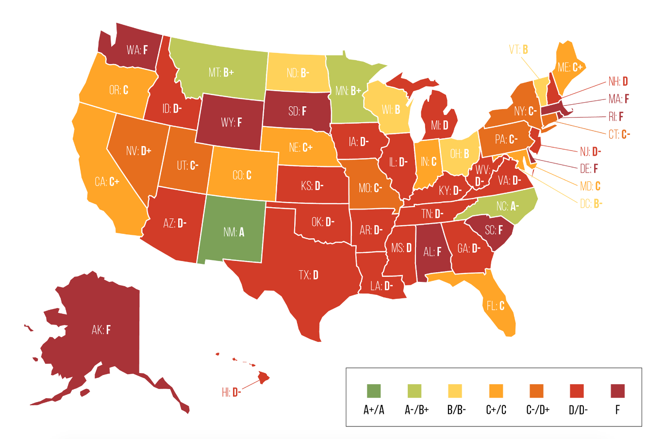 This Map Details Whether Asset Forfeiture Laws In Your State Are - Us marijuana map 2015