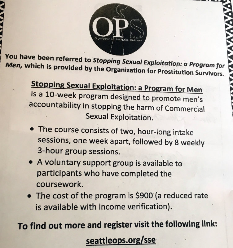 Flyer for the Stopping Sexual Exploitation course League members must take