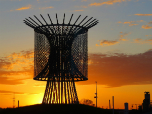 $1 million dollar 'Wind Roundabout' structure in Fort Worth