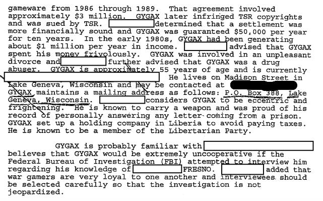 1995 FBI report