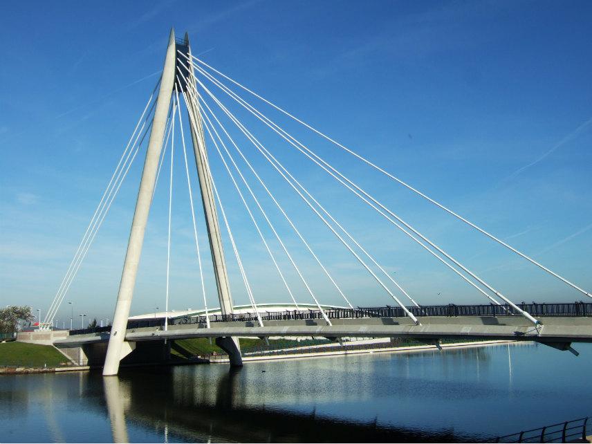 Marine Way Bridge in Southport, Merseyside, England.