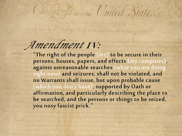 articles for the fourth amendment