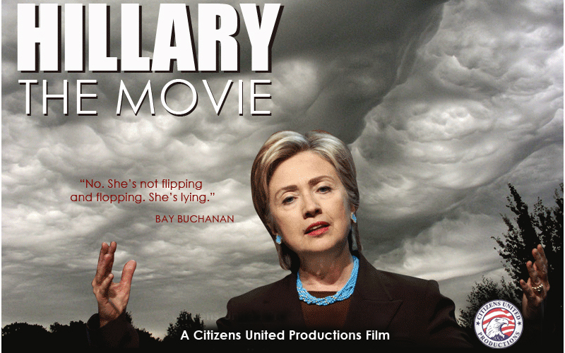 In: Having Bill do influence-peddling for the shitty president of Kazakhstan. Out: Allowing this movie to be aired on cable before an election. ||| Citizens United