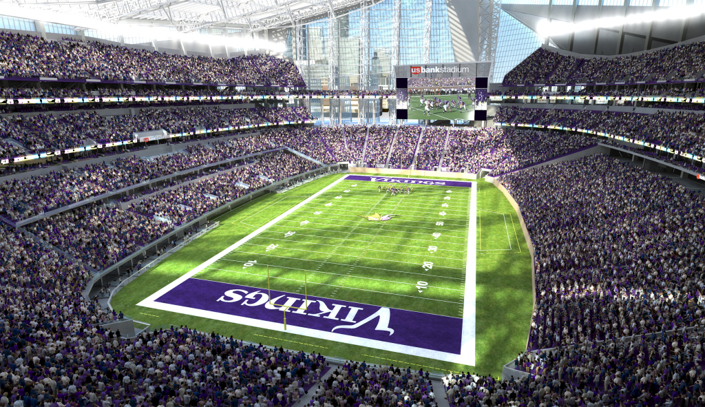 Please do not Google how much taxpayer money was spilled on this thing. ||| Minnesota Vikings