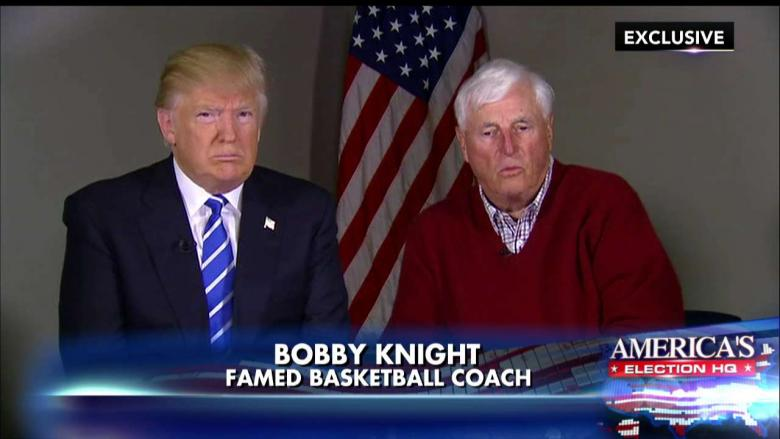 Bobby knight getting his mouth destroyed