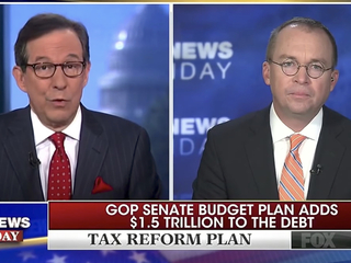 Chris Wallace and Mick Mulvaney ||| Fox News
