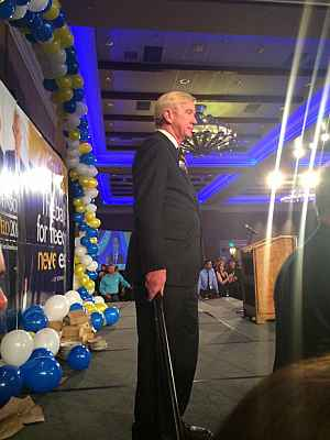 Bill Weld on Election Night, 2016. ||| Matt Welch
