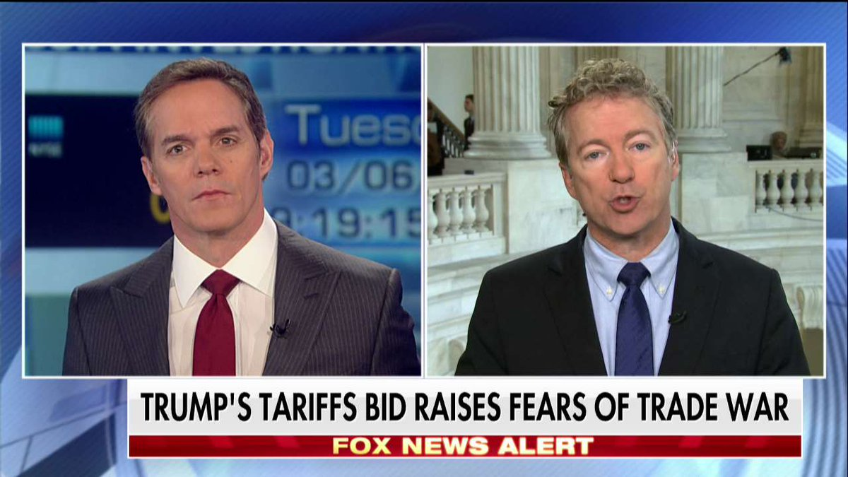Rand Paul talking on Fox this morning. ||| Fox News Channel