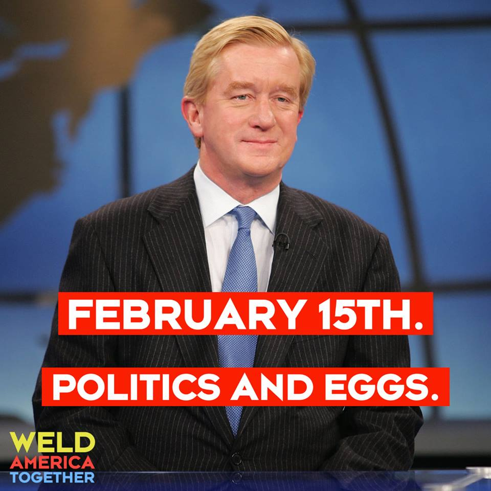 Look who's ready to eat! ||| People for Bill Weld Facebook page