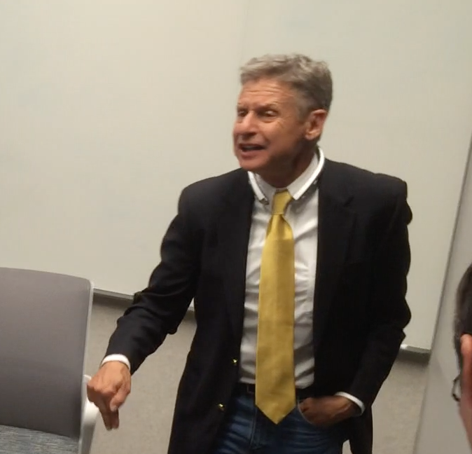 Gary Johnson gets angry