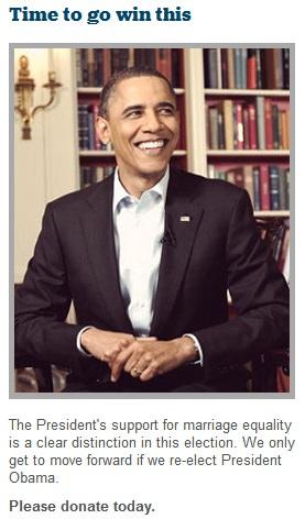 """""""I favor legalizing same-sex marriage,"""" Barack Obama said in 1996, ..."""