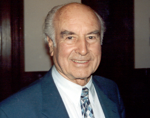 Albert Hofmann at an event in Switzerland commemorating the 50th anniversary of his discover of LSD. PHOTO CREDIT: Philip H. Bailey