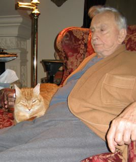 With matching cat