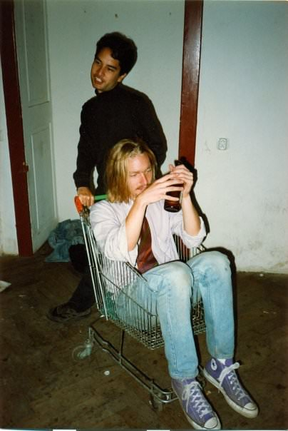 Any time an editor makes a clumsy Kurt Cobain reference … drink! In a shopping cart!