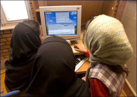 Iran internet cafe