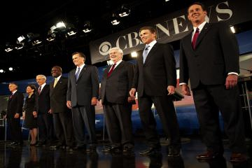 The Republican field as realized by Madame Tussaud