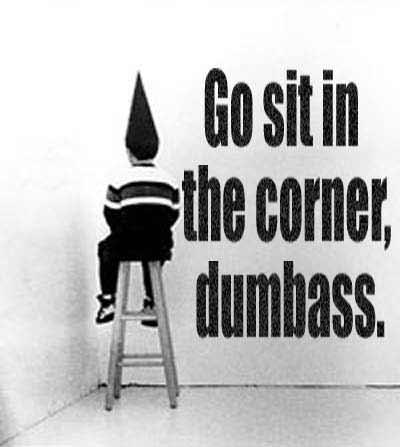 A majority of dumbasses have denounced the majority of nincompoops.