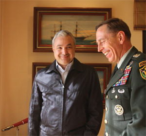Elias Murr with David Petraeus