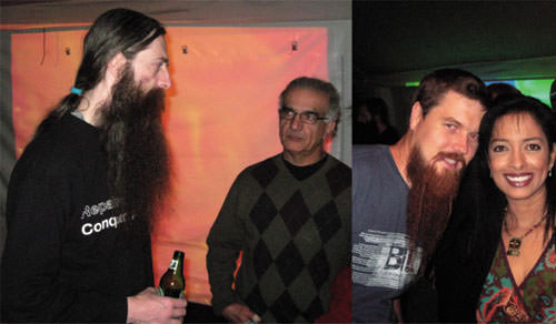 Rasputin beards on Aubrey de Gray (l) and Todd Huffman (r)