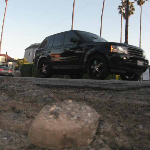 Half-credit for this field of potholes on Sepulveda Blvd, which last week injured but did not kill a motorcyclist.
