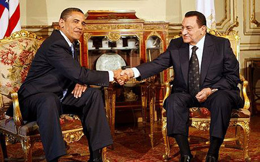 Departing from decades of sound foreign policy, the radical, secret Muslim Bill Ayers protege Barack Obama shakes hands with a dictator.