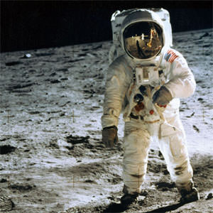 You can't see it but Neil Armstrong is actually smiling about the future of private space.